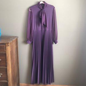 Vintage long accordion purple gown